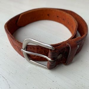 Accessories - 1970s Levi Tooled Leather Belt